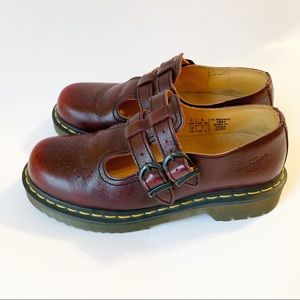 Dr.  Martens Mary Jane Double Strap Buckle Clogs